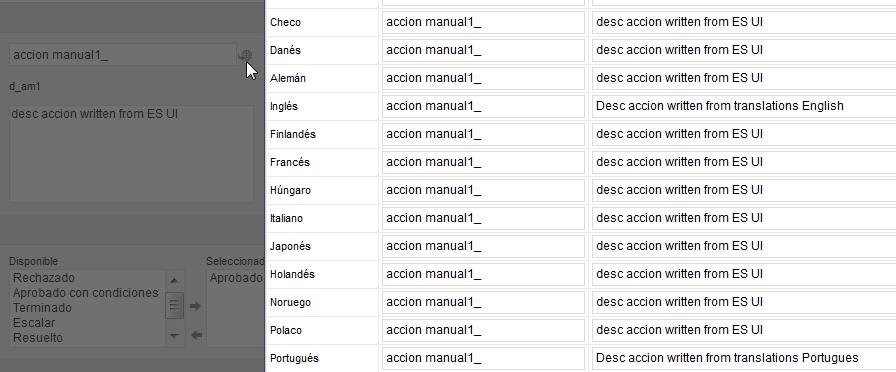 Action name, desc