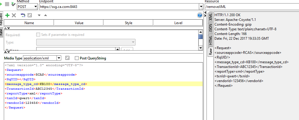How to convert xml request body into string removing xml