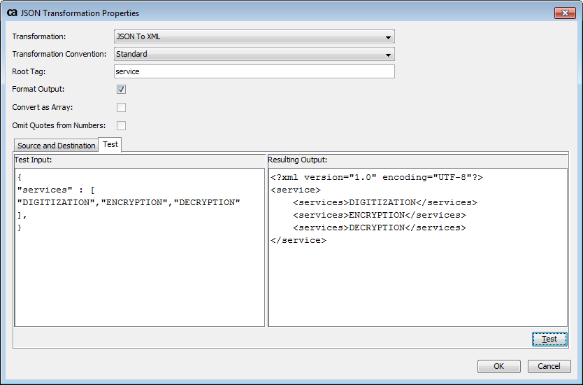 How to convert JSON Array element to recurring XML tags