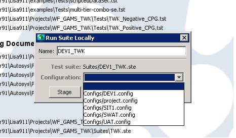 Suite run screenshot