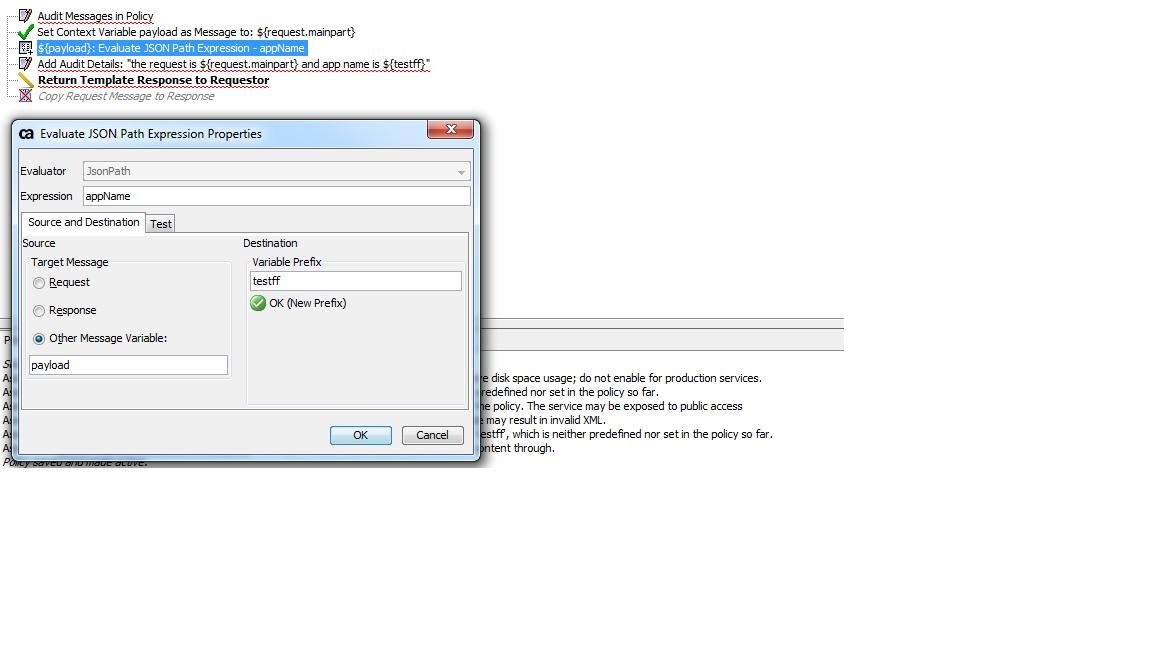 How to extract a key values from http main part using ca api