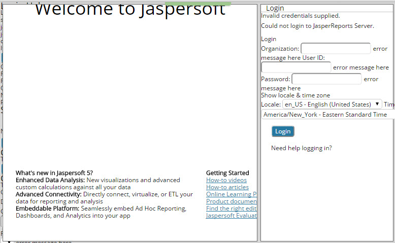 Verifying Jaspersoft Installation Fails | Clarity PPM1