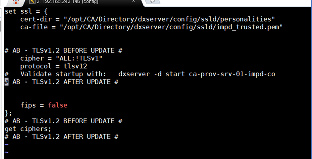 Which TLS Ciphers are used by CA Directory DSAs? | Layer 7