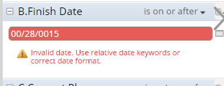 Date itself changes to invalid format and then gives error on applying filter