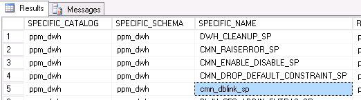 Data Warehouse Database Link Config Query | Clarity PPM1
