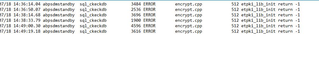 error in sdm service db admin mode | Clarity Service Management