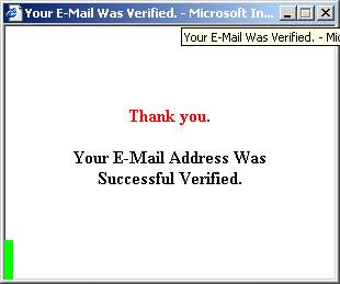 Fig. 3 Reply screen after entering login information.