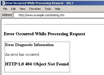 ColdFusion 404 error page