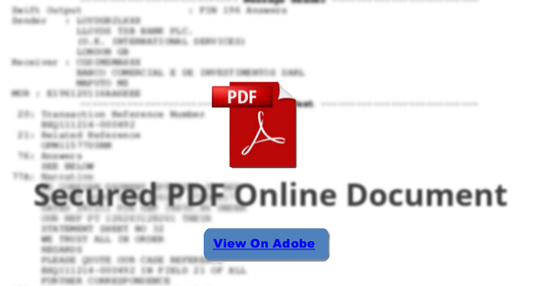Secured PDF Online Document