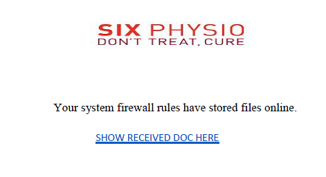 Your system firewall rules have stored files online.  Show received doc here.