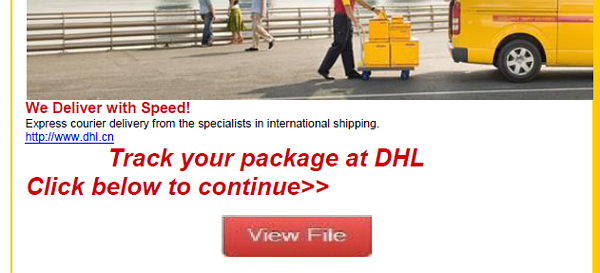 Fake DHL Phishing