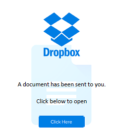 Fake Dropbox Phishing Lure
