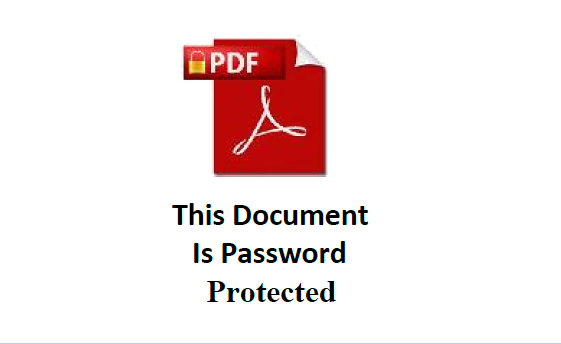 This Document is Password Protected