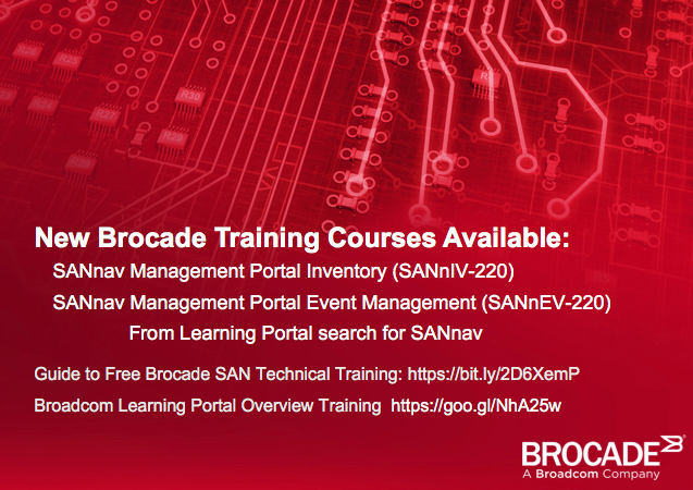2 New Brocade SANnav Management Courses Available