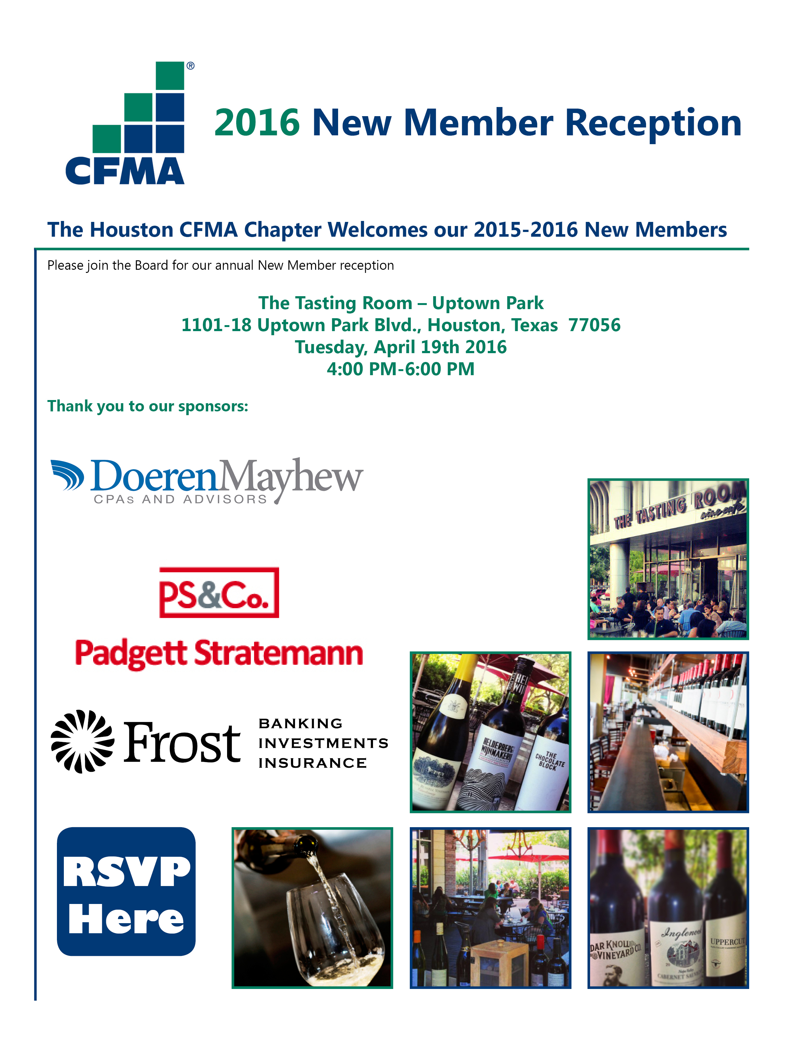 new member reception invitation only connection cafe