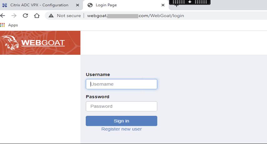 Webgoat Home Page