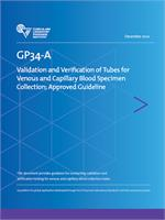 Image of GP34: Validation and Verification of Tubes for Venous and Capillary Blood Specimen Collection, 2nd Edition
