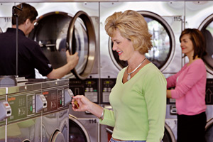 Customer Using a Laundromat