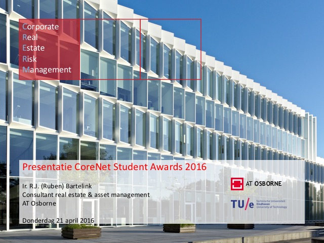 Presentatie bij CoreNet Student Award - Ruben Bartelink