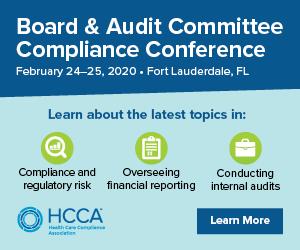 2020 HCCA Board & Audit