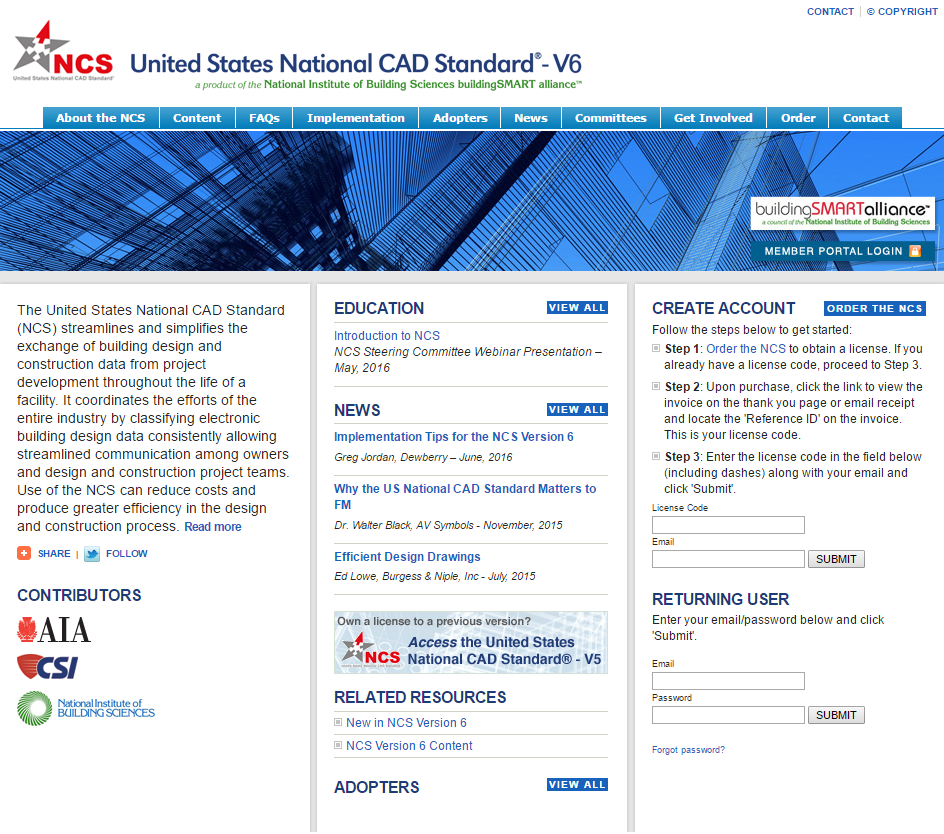 National Cad Standard Construction Specifications Institute
