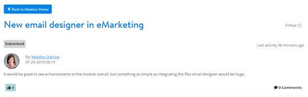 New email designer in eMarketing