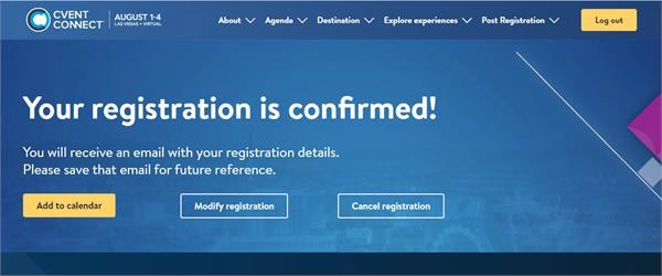 Cvent Connect 2021 Registration