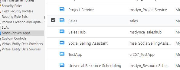 Model Driven Apps