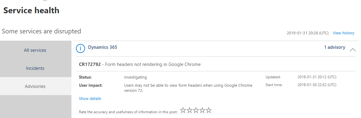 CRM Form Issues with Chrome Update 72 | Customer Engagement