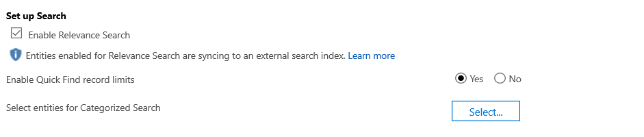 Relevance Search Option to be checked.