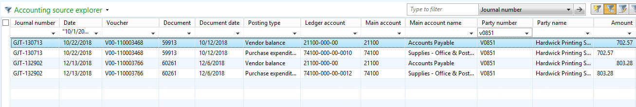 Accounting Source Explorer