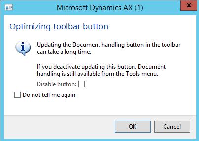 Optimizing toolbar button