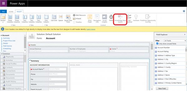 Knowledge Base Search Control To Form In Dynamics CRM - AhaApps