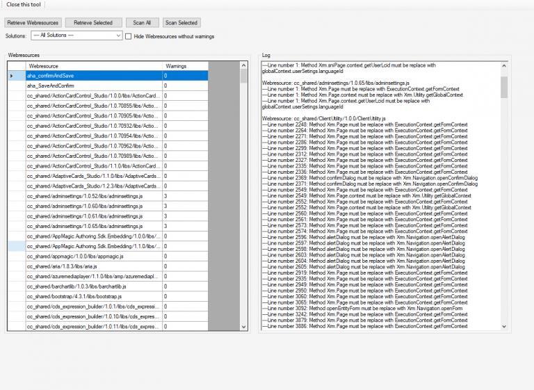 Dynamics 365 V9 JavaScript Validator - AhaApps