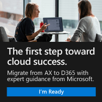 The first step toward cloud success. - Migrate from AX to D365 with expert guidance from Microsoft. I'm Ready