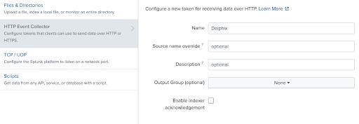 Configure HEC Token step 2