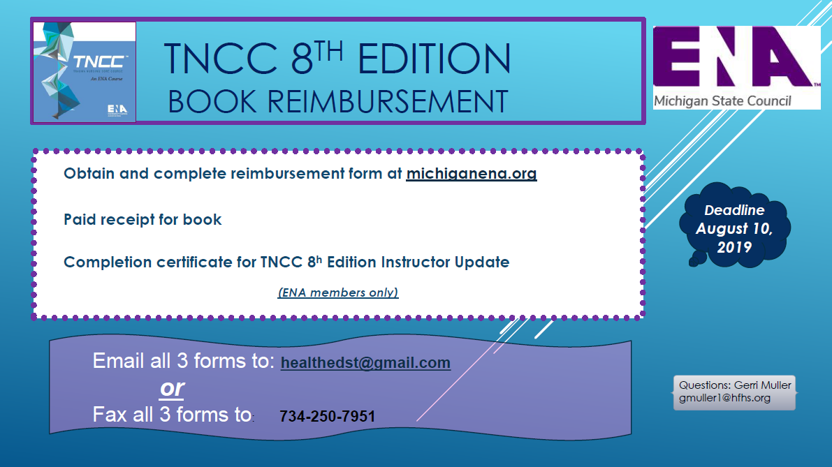 Tncc 8th Edition Member Book Reimbursement