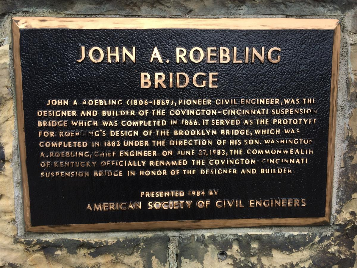 The John A. Roebling Bridge has been an iconic landmark over the Ohio River for more than 150 years. Designed by civil engineer John Roebling