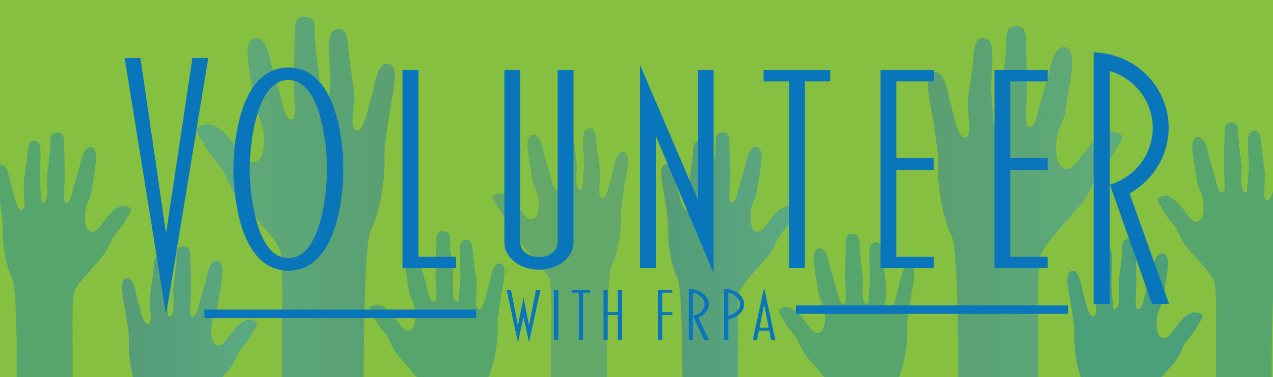 volunteer with FRPA