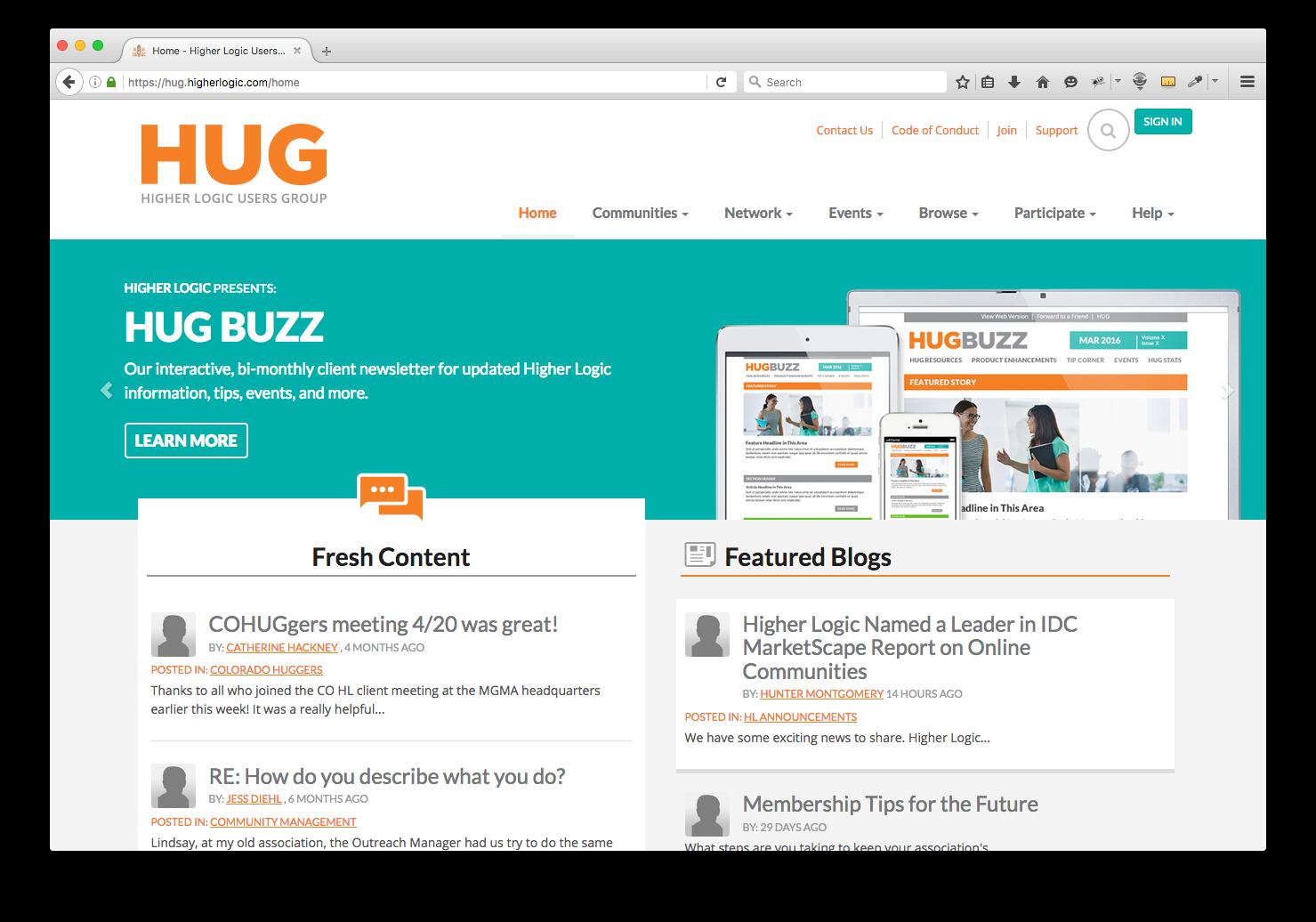 HUG Screenshot