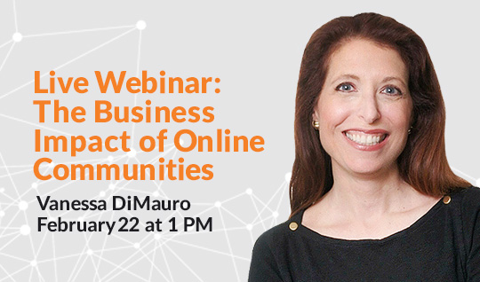 The Business Impact of Online Communities Webinar Banner