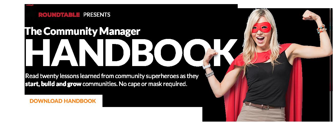 Community Manager Handbook Banner