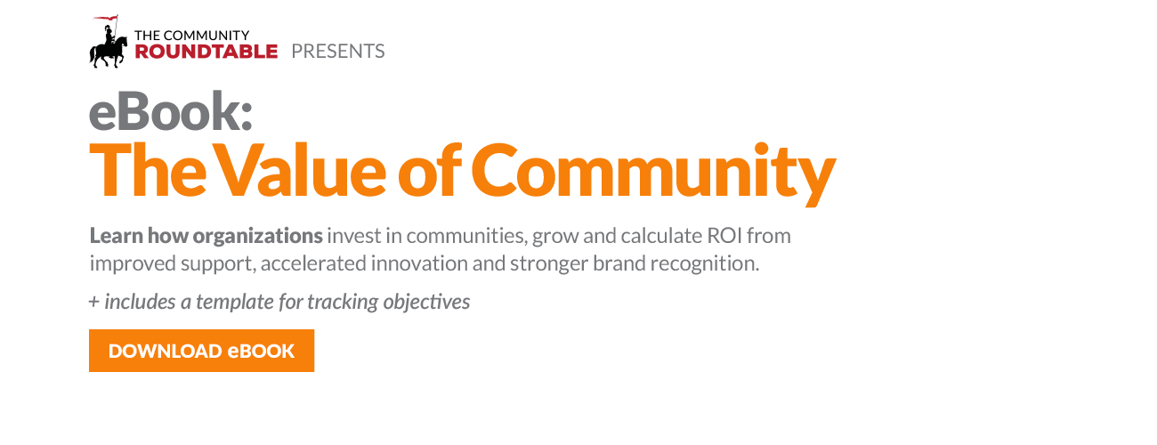 Community Roundtable Value of Community eBook Banner