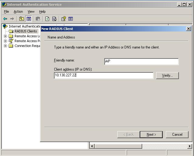 1320 new RADIUS client