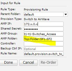 Activate Switch to Airwave Provisioning Rule