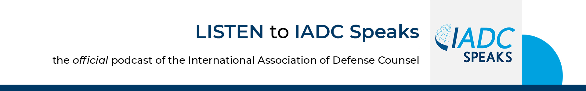 Listen to IADC Speaks, the official podcast of the IADC.