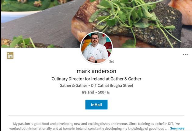 Mark Anderson LinkedIn Profile - Chef Network