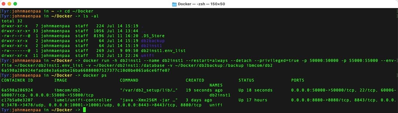 Docker Run Db2]