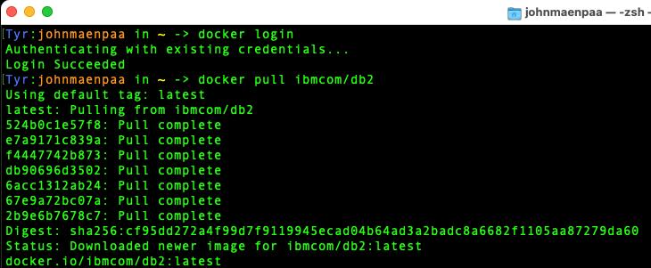 Docker Pulled Db2