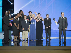 Tim Shriver, Michelle Obama, and Special Olympic athlete leaders accept 2017 ESPY on behalf of Eunice Kennedy Shriver